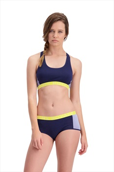 Mons Royale Sierra Women's Merino Wool Sports Bra L Navy