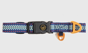 United By Blue Woven Dog Collar Webbing Pet Collar, Reflector Stripe
