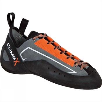 Climb X Crush Lace Rock Climbing Shoes UK 14 Orange/Grey
