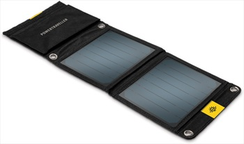 PowerTraveller Falcon 7 Foldable Solar Panel, Black