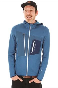 Ortovox Fleece Grid Full Zip Hoodie, M Night Blue