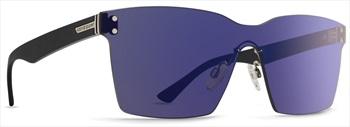 Von Zipper Lesmore ALT Flash Chrome Blue Lens Sunglasses, Black Gloss