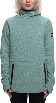 686 Knit Tech Women's Fleece Hoody, S Seaglass Melange