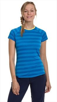 Berghaus Stripe Tee 2.0 Women's Short Sleeve T-Shirt, UK 8 Blue/Blue
