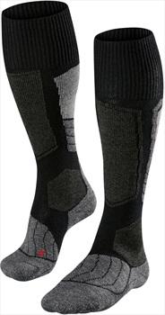 Falke SK1 Merino Wool Women's Ski Socks, UK 2.5-3.5 Black-Mix