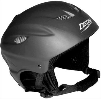 Custom 996 Snowboard or Ski Helmet XS Matte Black