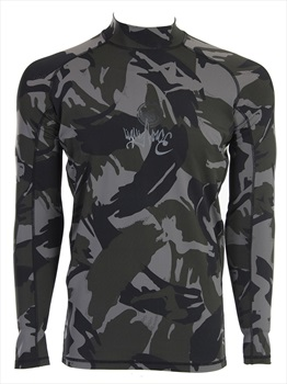 Liquid Force Warrior Long Sleeve Rash Guard, X Large Brown Camo