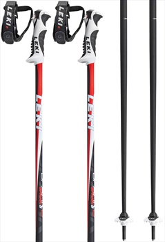 Leki Spark S Pair Of Ski Poles, 130cm, Red/Black