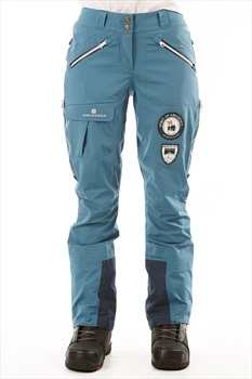 Amundsen Peak Panther Womens Ski/Snowboard Pants, S Faded Blue