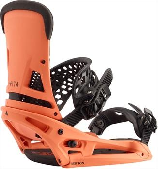 Burton Malavita EST Snowboard Bindings, Medium Spicy Salmon 2020