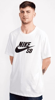 Nike SB Logo Dri-Fit Base Layer Short Sleeved T-Shirt, L White/Black
