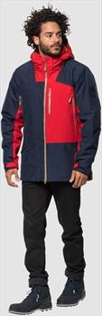 Jack Wolfskin 365 OnTheMove Waterproof Hardshell Jacket, S Blue/Red