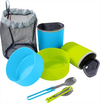 MSR 2 Person Mess Kit Backpacking Meal Set, Blue/Green