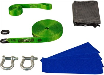 Elephant Slacklines PocketLine Slackline Kit, 13m X 25mm Green