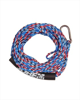 Jobe Heavy Duty Towable Tube Rope, 2 Rider W/ Hook Blue Red 2019
