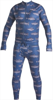 Airblaster Hoodless Ninja Suit Thermal Base Layer, L Navy Fish