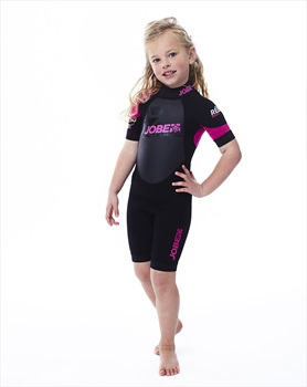 Jobe Progress Rebel 2.5/2 Kids Shorty Wetsuit, 3X Large Black Pink
