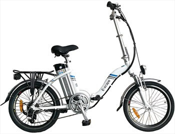 "Narbonne E-Scape E-Bike Folding Electric Bicycle, 20"" White"