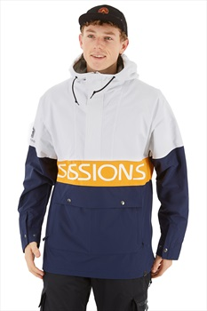 Sessions Chaos Pullover Ski/Snowboard Jacket, L White
