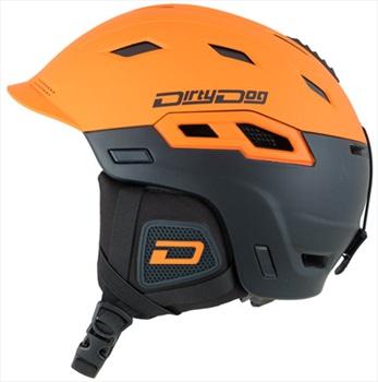 Dirty Dog Crater Snowboard/Ski Helmet, XL Matte Orange Black