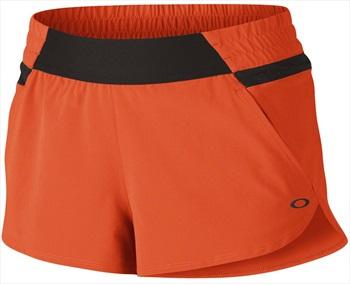 Oakley Womens Elevate Sportswear Shorts, XL Coral Glow