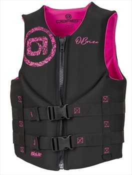 O'Brien Ladies Traditional Biolite Buoyancy Aid / Vest, S Bl Pink 2020