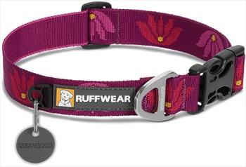 Ruffwear Hoopie Webbing Dog Collar, M Lotus