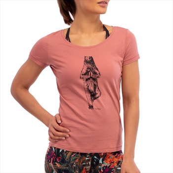 3rd Rock Yogi Bear Women's Organic Yoga T-shirt, S Salmon