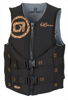 O'Brien Ladies Traditional Biolite Neo Watersports Ski Vest, L Coral