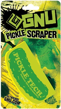 GNU Lil Pickle Ski/Snowboard Wax Scraper, One Size Yellow/Green