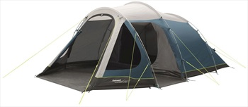 Outwell Earth 5 Family Camping Tent, 5 Man Blue/Grey