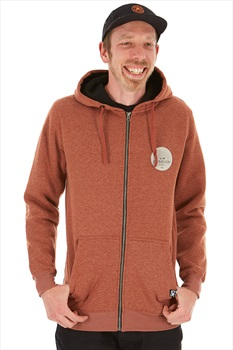 Rome The Riding Zip Up Soft Technical Hoodie S Heather Burgundy