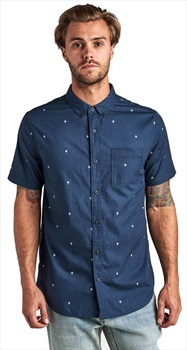 Roark Adult Unisex Triple Lanterns Button Up Shirt, S Navy