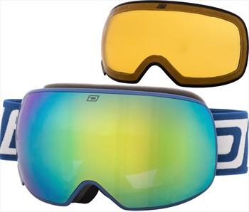 Dirty Dog Mutant 2.0 Green Fusion Snowboard/Ski Goggles, L Navy
