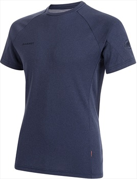 Mammut Aegility Technical Short Sleeve T-Shirt, M Marine Melange