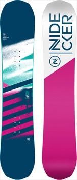 Nidecker Micron Flake Girls Hybrid Camber Snowboard, 135cm 2020