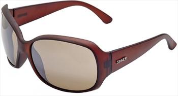 Sinner Amos Round Gradient Brown Large Frame Sunglasses, Dark Brown