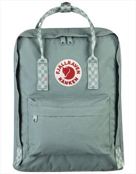 Fjallraven Kanken Backpack, 16L Frost Green/Chess Pattern