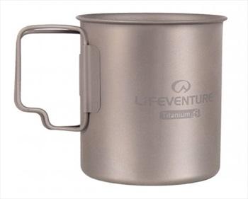 Lifeventure Titanium Mug Ultralight Backpacking Cup, Grey