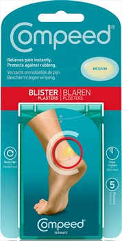 Compeed Medium 5 Blister Plasters, Clear