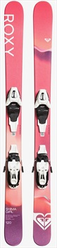 Roxy Shima Girl L6 Easytrack L6 Women's Skis, 150cm Hot Fuchsia 2020