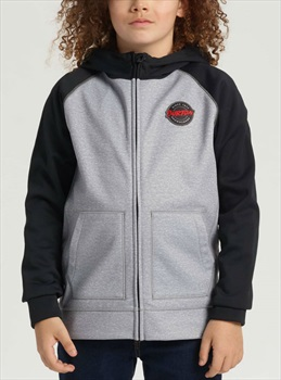 Burton Boy's Crown Bonded Full-Zip Hoodie, M Grey Heather