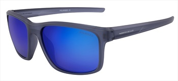 North Beach Pout Blue Mirror Polarised Sunglasses, Matte Xtal Blue