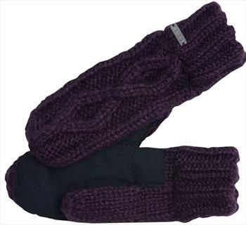 Coal The Bobbie Knit & Suede Mitten, One Size Aubergine
