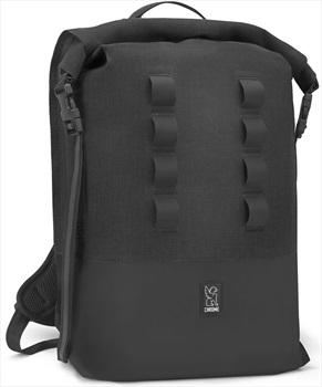Chrome Urban Ex Rolltop Backpack, 28L Black/Black