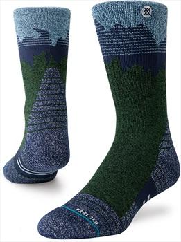 Stance Broderick Trek Crew Walking/Hiking Socks, L Blue