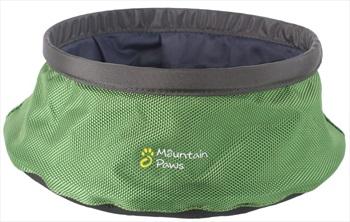 Mountain Paws Dog Water Bowl Portable Fold Away Travel, 21cm Green