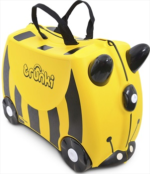 Trunki Bernard Bee Kid's Wheeled Hand Luggage, 18L Yellow/Black