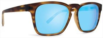 Von Zipper Levee Blue Chrome Lens Sunglasses, Tortoise Satin