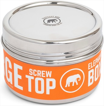 Elephant Box Screw Top Canister Stainless Steel Food Container, Large